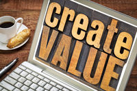 create value wood typography