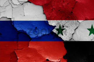 flags of Russia and Syria