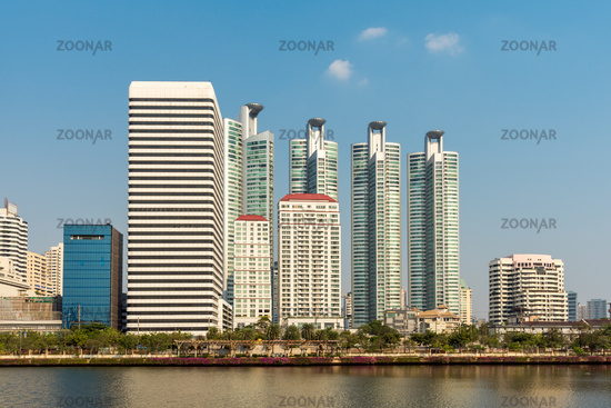 High-rise in the Khlong Toei district of Bangkok