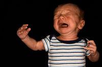 Baby Hayden On Black - Three Weeks Old