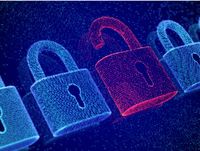 Data security and privacy concept. Visualization of personal or business information safety.