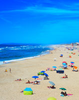 People ocean beach summer Portugal