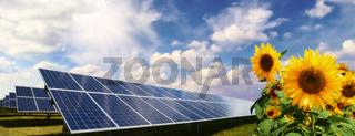 Stromerzeugung durch Sonnenenergie