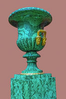 Green Urn In Skylight Hall,  The Hermitage, St. Petersburg, Russia