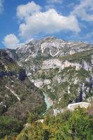 am Aussichtspunkt Balcon de la Mescla,Verdonschlucht,Provence,Frankreich