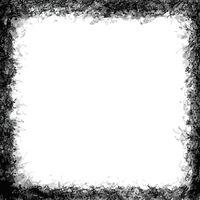 Messy black grunge frame on white