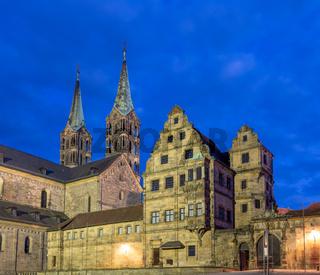 Illuminated cathedral of Bamberg