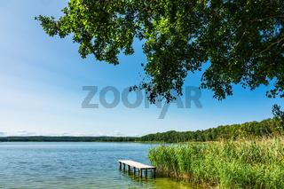 Landschaft mit See in Potzlow