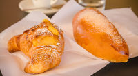 Morning brioches in Italy