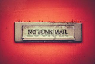 No Junk Mail Letterbox