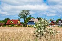 Häuser auf dem Fischland-Darß in Wiek