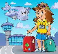 Tourist woman theme image 2