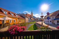 Samobor river and old streets view