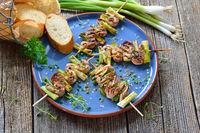 Gegrillte mediterrane Filet-Spießchen