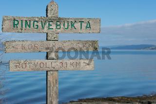 Wanderweg Ladestien auf der Halbinsel Lade bei Trondheim