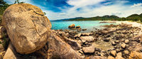 Beautiful  beach. Panorama. Vietnam