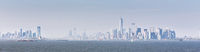 .Panoramic view of Lower Manhattan and Jersey City from Staten Island, New York City, USA