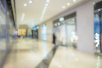 Defocused background image of shopping mall