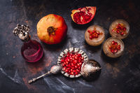 Turkish Dessert Ashura With Pomegranate, Noah's Pudding