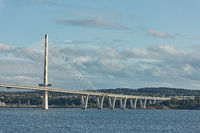 The new Queensferry Crossing bridge over the Firth of Forth in Edinburgh Scotland.