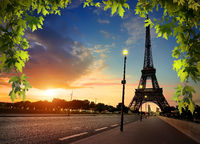Beautiful sunrise in Paris