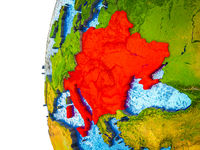 CEI countries on 3D Earth