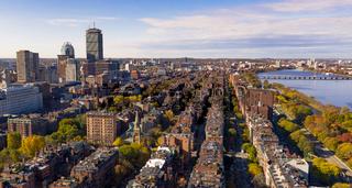 Fall Color Autumn Season South Boston Massachusetts Aerial View