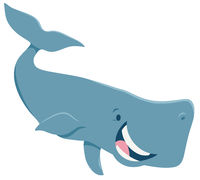 cartoon whale animal character
