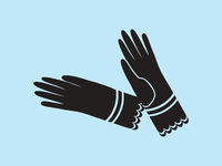 Vintage Ladies Dress Gloves Vector