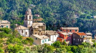 Small village in Cinque Terre National Park Liguria Italy