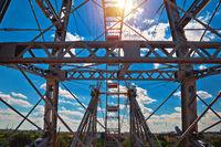 Prater Riesenrad giant Ferris wheel in Vienna view