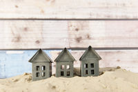 Little houses at the beach