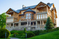wooden house Ukraine home building