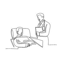 Hospital Patient and Doctor Continuous Line