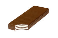 Bitten chocolate wafer