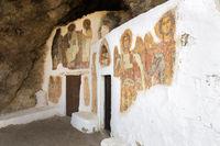 Die Felsenkirche Agios Ioannis, Kreta, Südküste, Griechenland