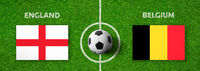 Football match England vs. Belgium