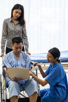 Physical therapist treatment patient