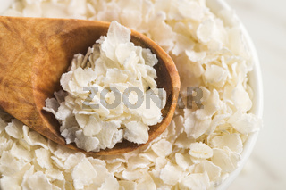 Cereal rice flakes.