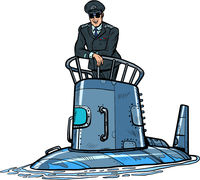captain of a submarine. Army naval ship
