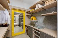 Big luxury wardrobe room