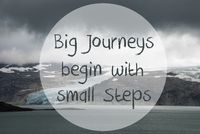 Glacier, Lake, Big Journeys Begin With Small Steps