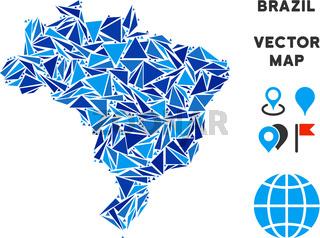 Blue Triangle Brazil Map