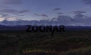 Autumnal Denali National Park Scenery at sunrise