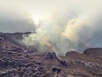 crater at Mount Stromboli