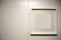 blank frame on a white wall, space for text background texture