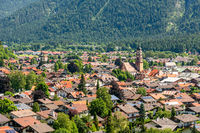Village of Mittenwald in Bavaria