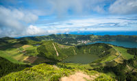 View to the Caldeira of Sete Cidades, Sao Miguel island, Azores, Portugal