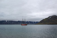 Segelschiff vor Spitzbergen