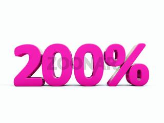 Retro Red Percent Sign